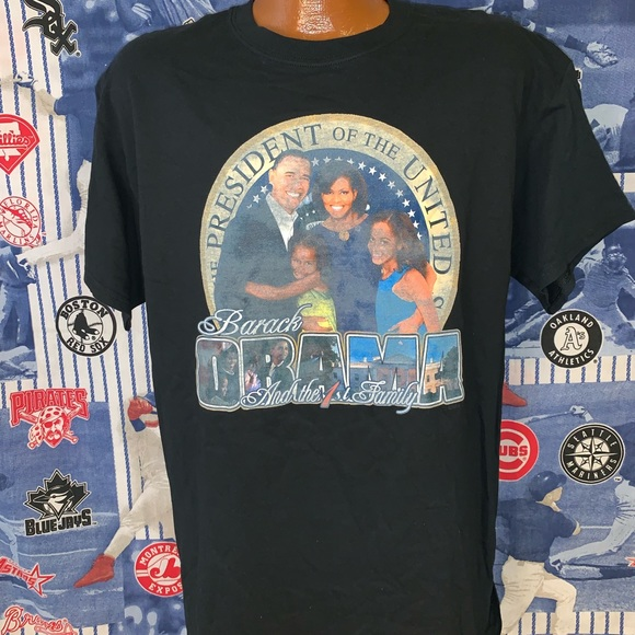 9a8e15780 Shirts | Barack Obama And Family Graphic Tshirt Large | Poshmark